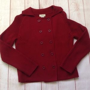 Kenji Anthropologie Maroon Sweater